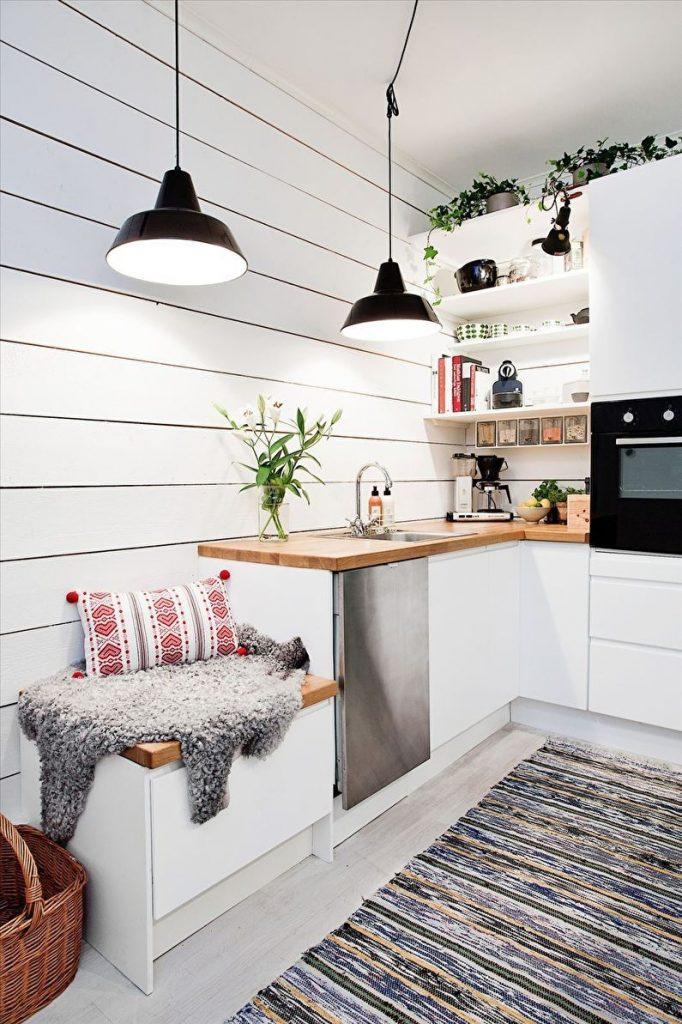 Блог дерево на стенах кухни
