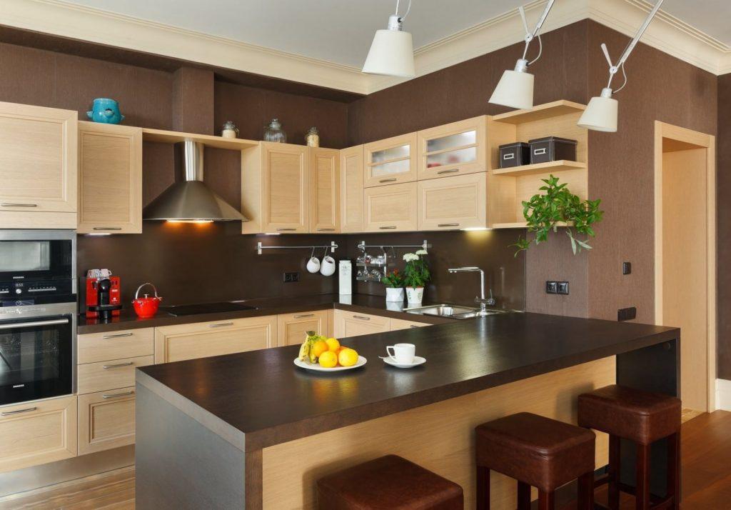 Блог Крашенные стены на кухне